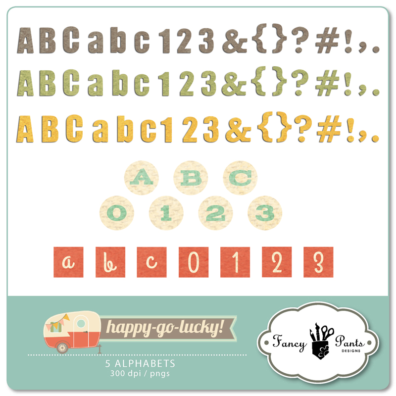 Happy Go Lucky Alphabets