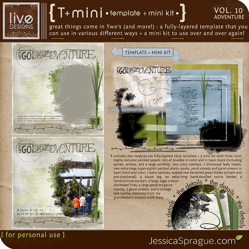 liv.edesigns T+Mini Vol. 10 - Adventure is perfect for documenting all your big and small adventures!