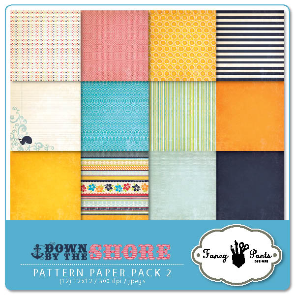 Down by the Shore Paper Pack 2