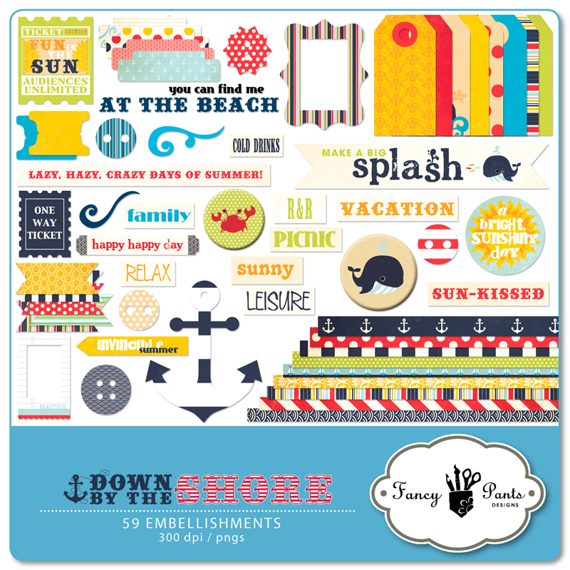 Down by the Shore Element Pack #1