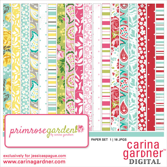 Primrose Garden Paper Set