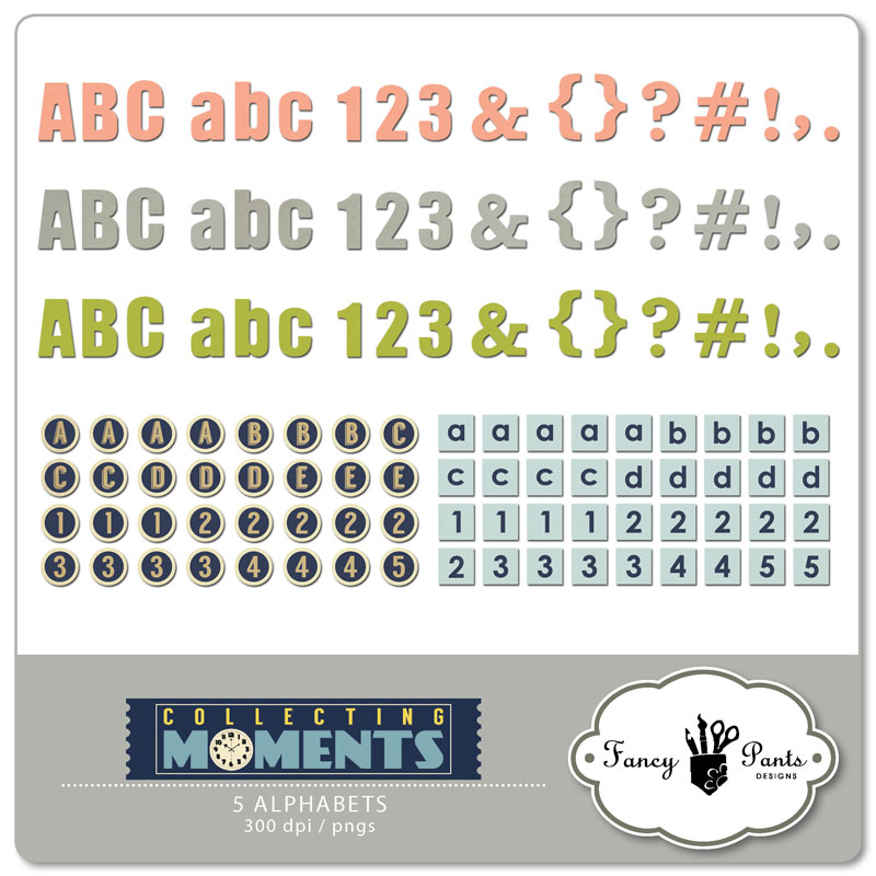 Collecting Moments Alphabets
