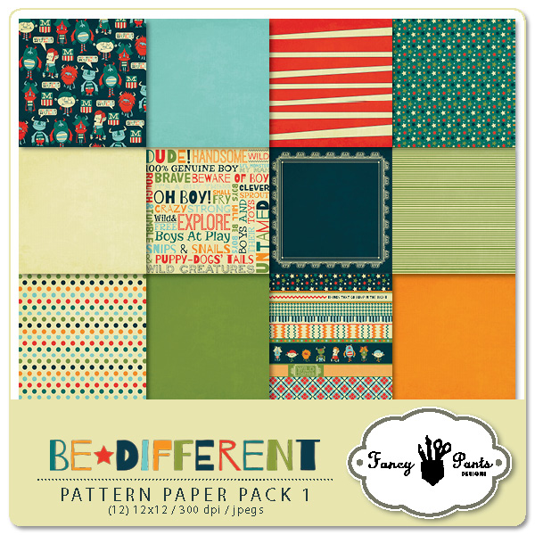 Be Different Paper Pack #1