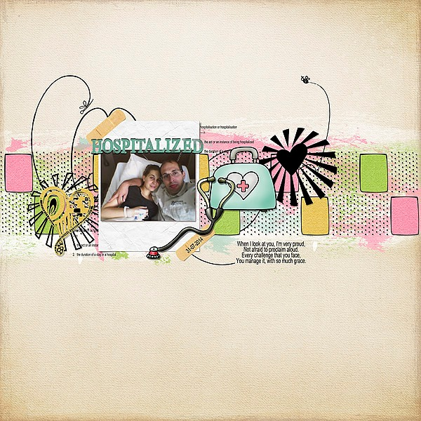 Margje van Arnhem used Buttercream Dreams to bring out the sweet warmth of this poignant photo on her awesome layout.