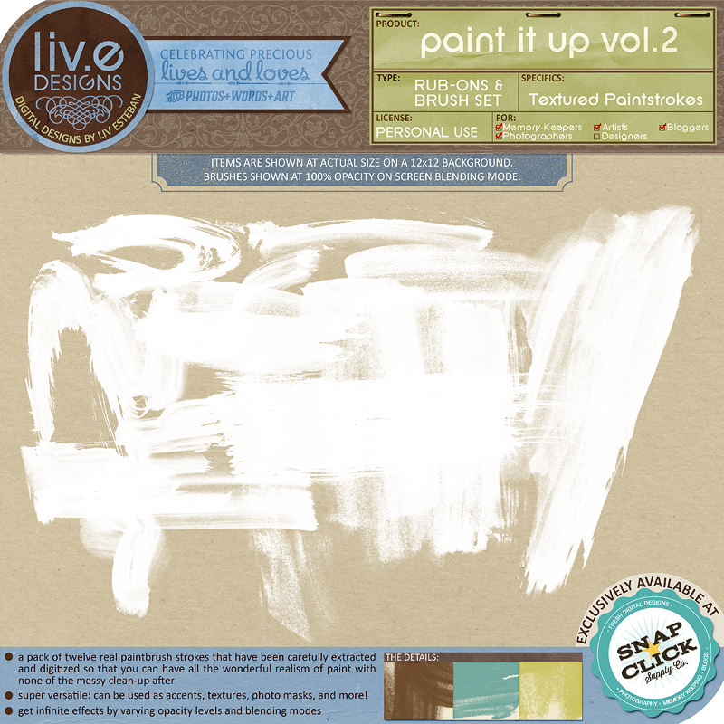 liv.edesigns Paint It Up Vol. 2 - Textured Paintstrokes