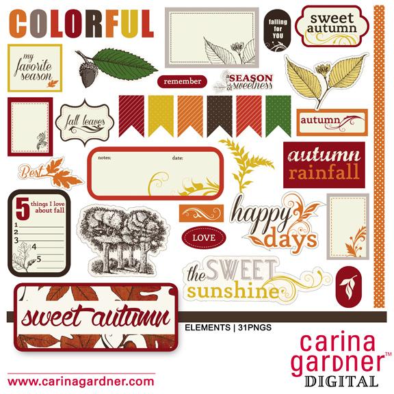 Sweet Autumn Element Set 1