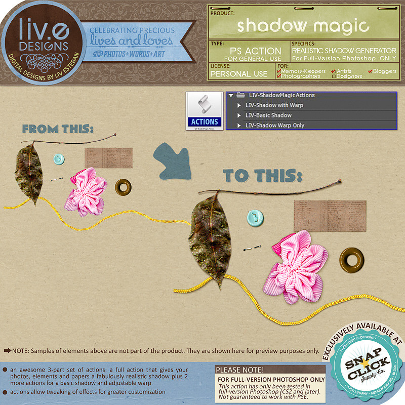 liv.edesigns Shadow Magic (Realistic Shadow Generator) - Digital Tools that make your life a breeze!