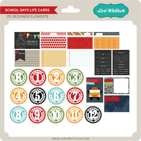 School Days Life Cards