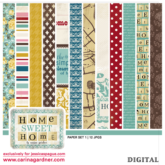 Home Sweet Home Paper set 1