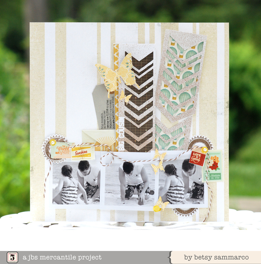 Cutting File (Variegated Chevron) used in this layout by Betsy Sammarco.
