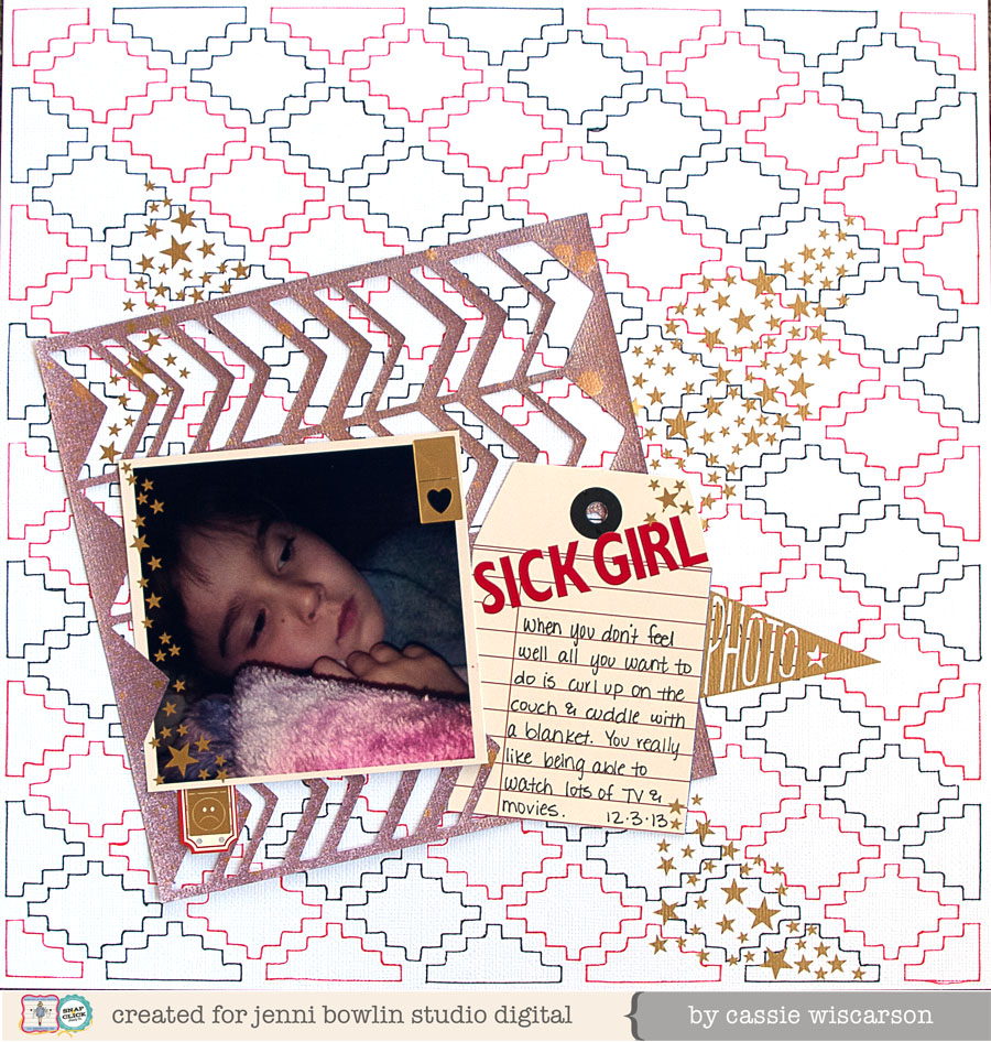 Layout using cutting files by Cassie Wiscarson
