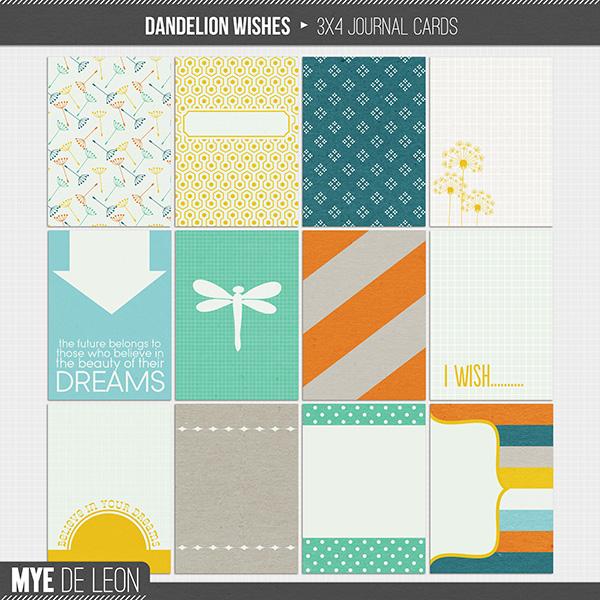 Dandelion Wishes | Journal Cards