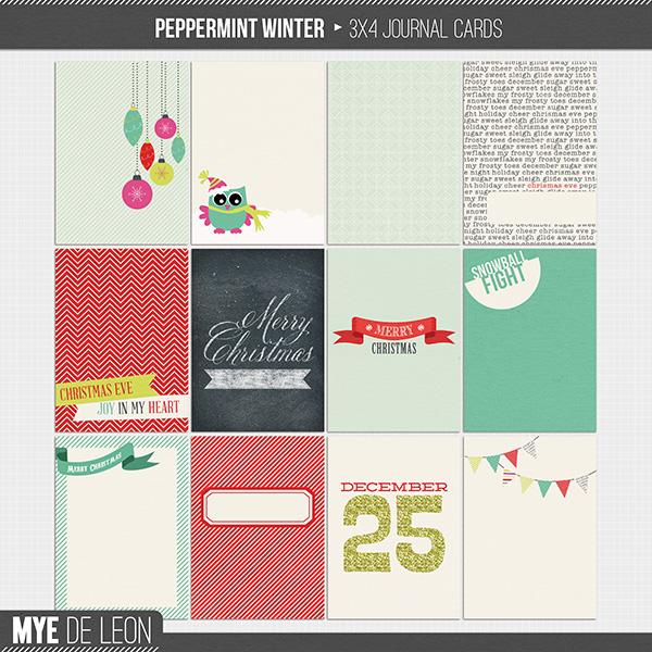 Peppermint Winter | Journal Cards