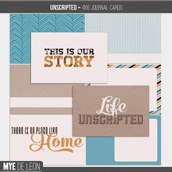 Unscripted | 4x6 Journal Cards