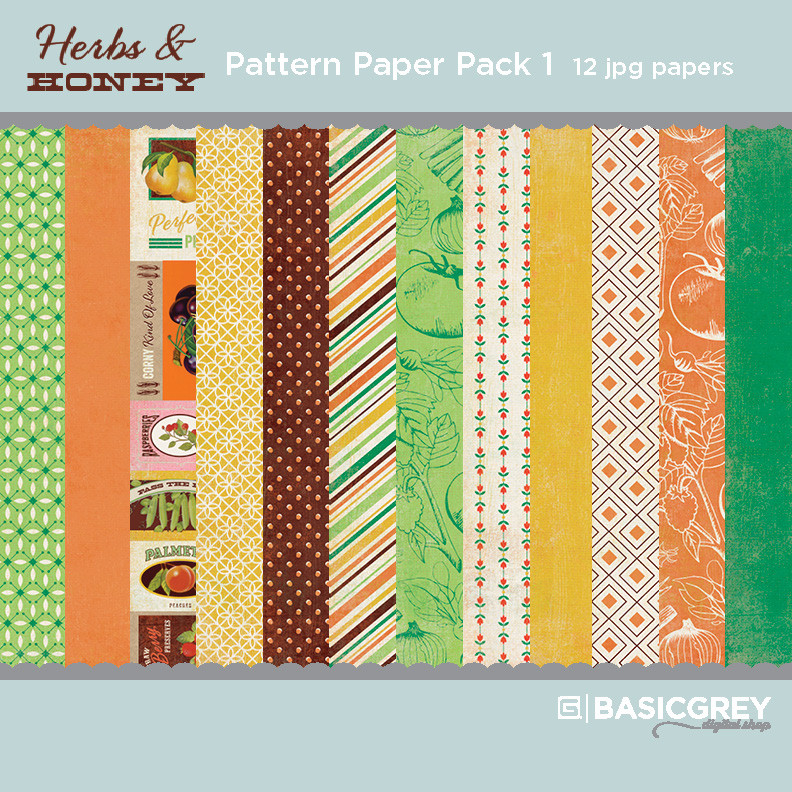Herbs & Honey Paper Pack 1