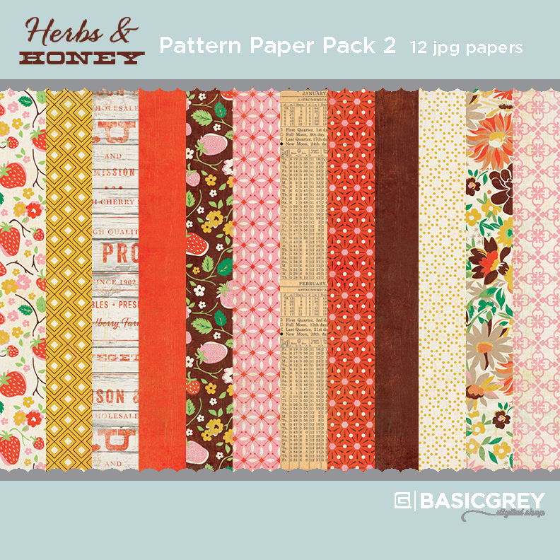 Herbs & Honey Paper Pack 2