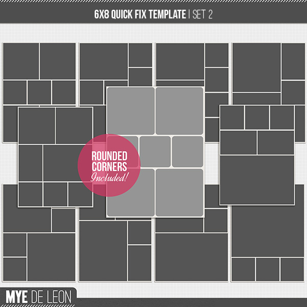 6x8 Quick Fix  | Template Set 2