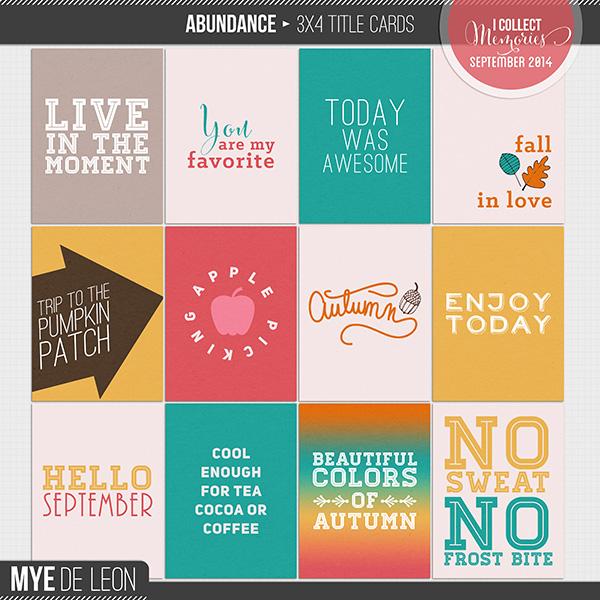 Abundance | 3x4 Title Cards