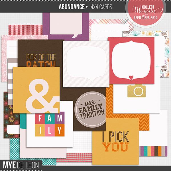 Abundance   4x4 Journal Cards