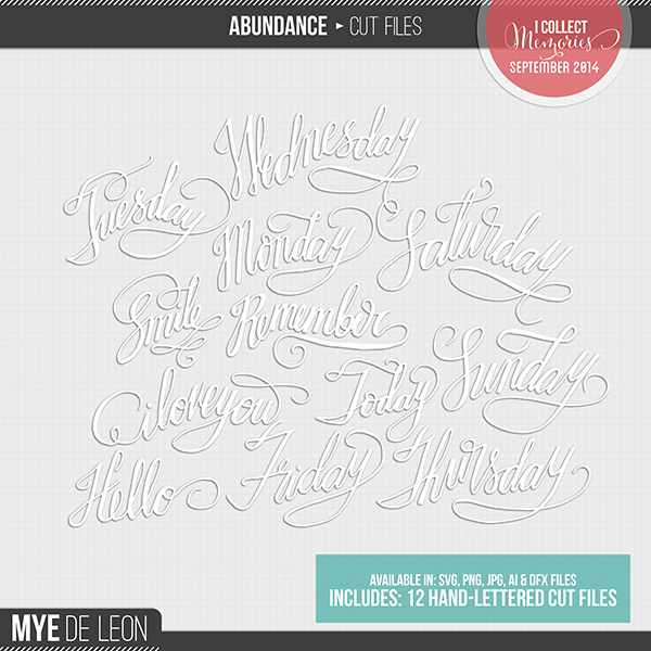 Abundance | Word Cut Files