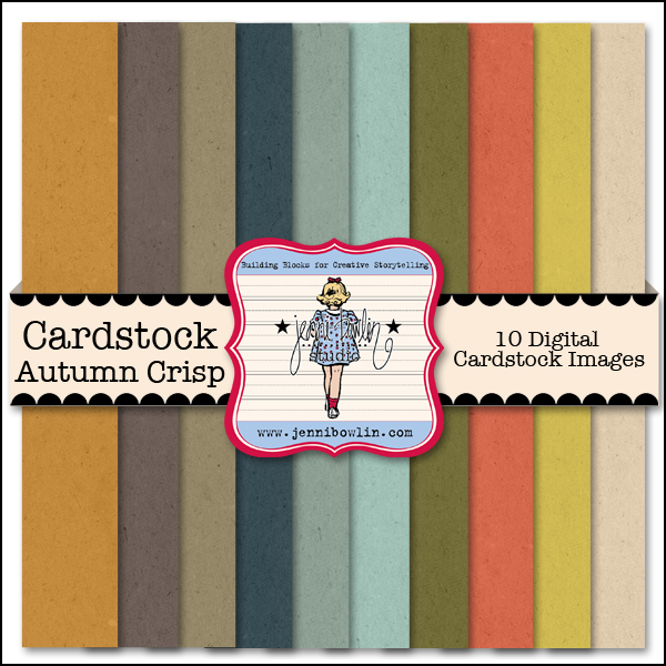 This cardstock kit coordinates with our Autumn Crisp patterned paper kit.