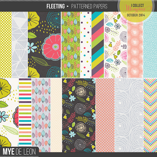 Fleeting | Patterned Papers