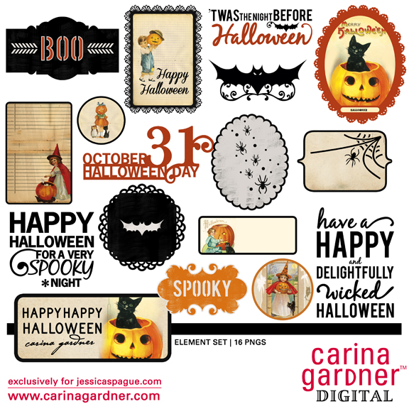 Happy Happy Halloween Element Set