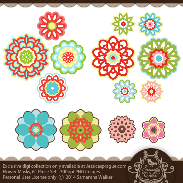 This kit comes with 61 flower masks in a .png format.