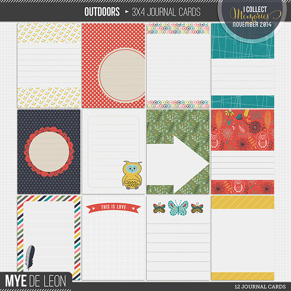 Outdoors | 3x4 Journal Cards