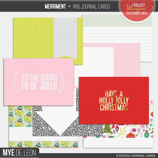 Merriment | 4x6 Journal Cards