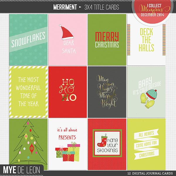 Merriment   3x4 Title Cards