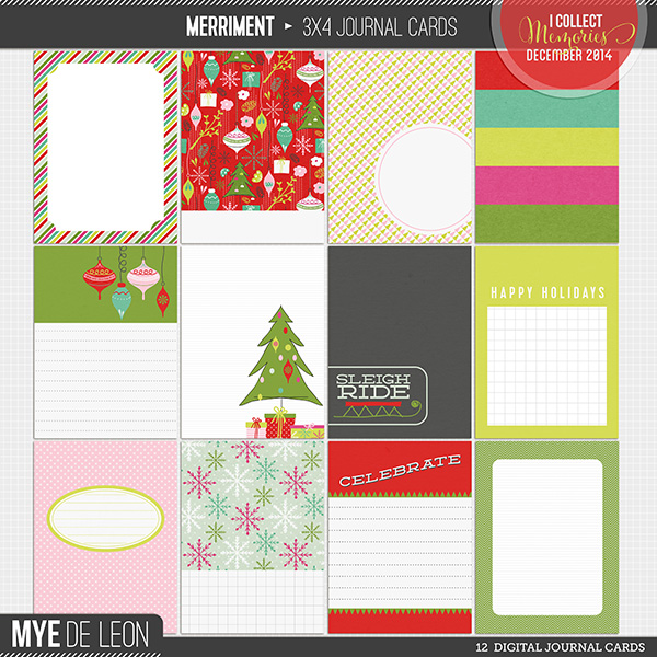 Merriment | 3x4 Journal Cards