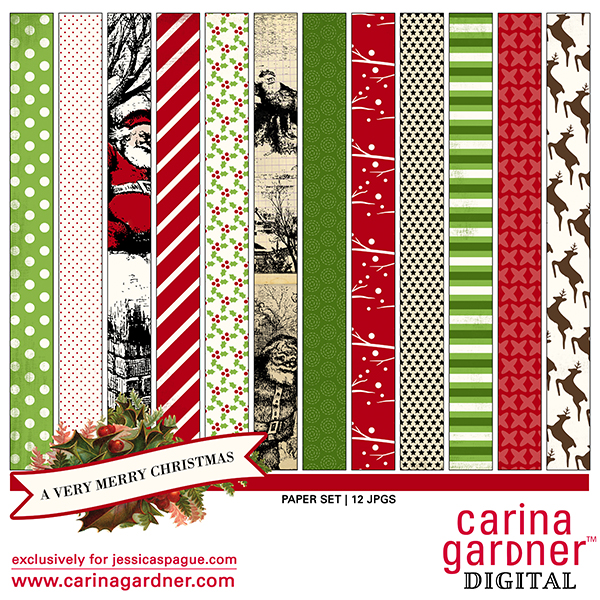A Very Merry Christmas Paper Set