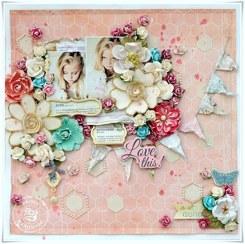 Sample layout using Divine Papers