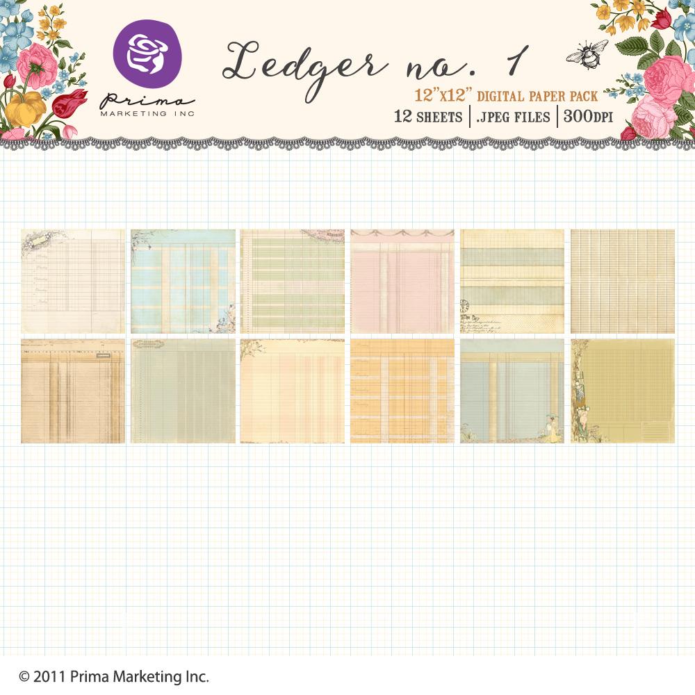 Ledger no.1 Paper Pack