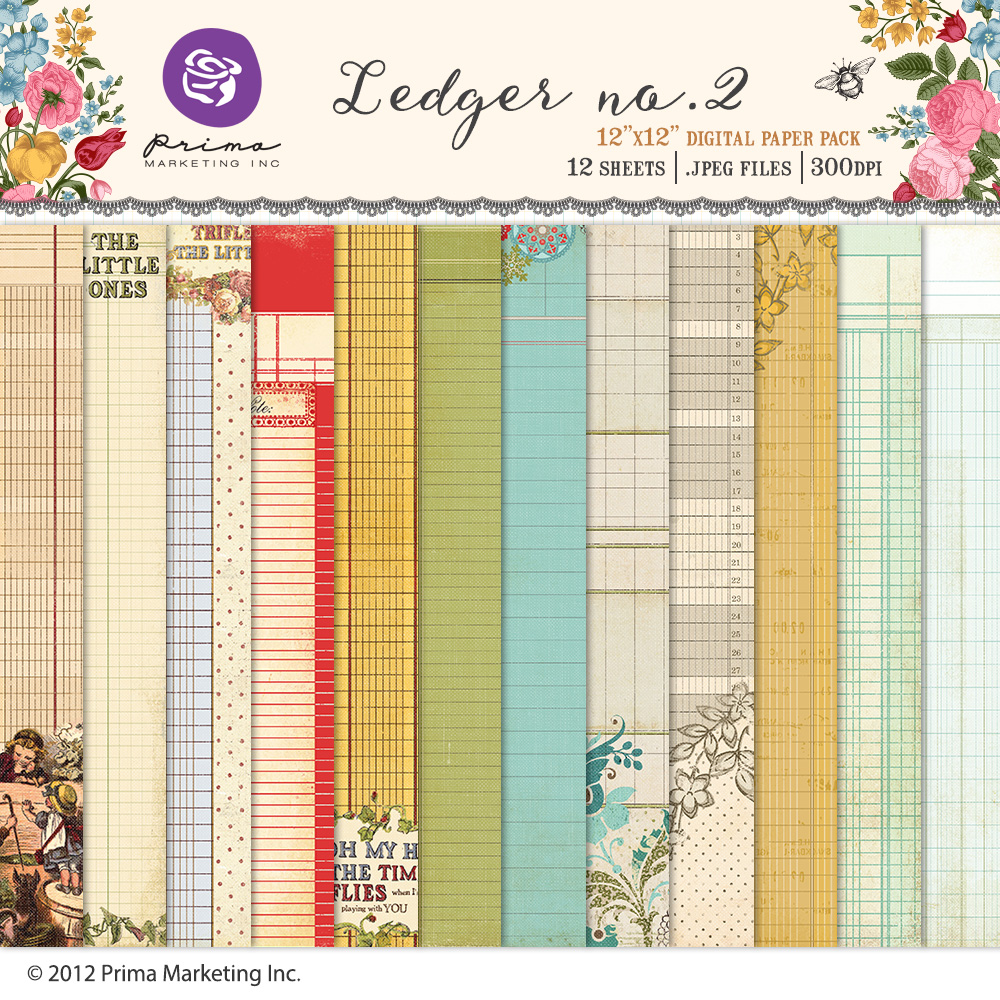 Ledger no.2 Paper Pack