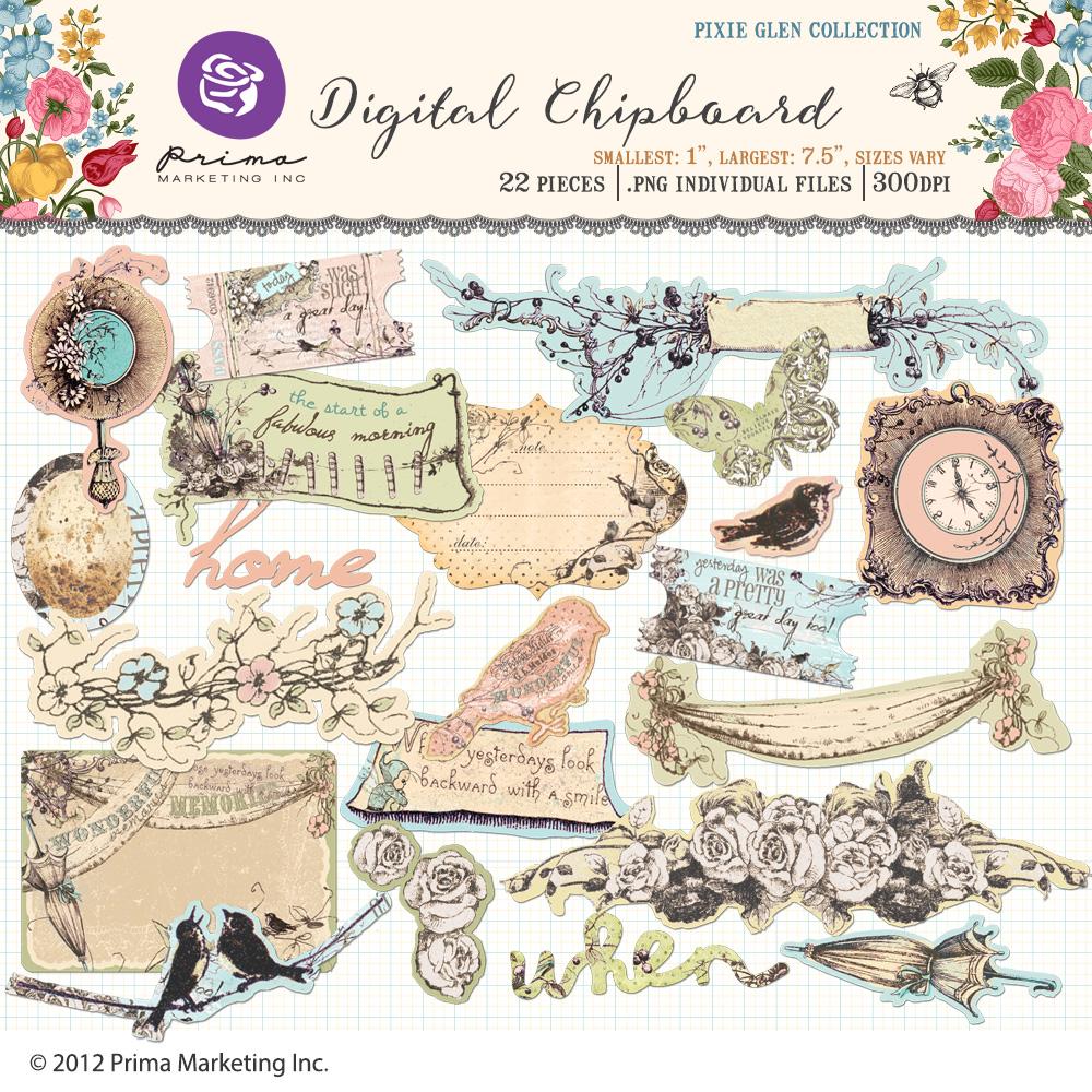 Pixie Glen Digital Chipboard
