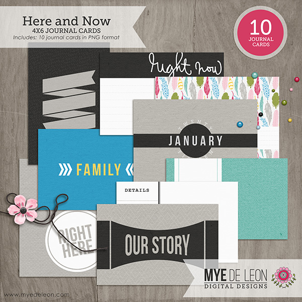 Here and Now | 4x6 Journal Cards