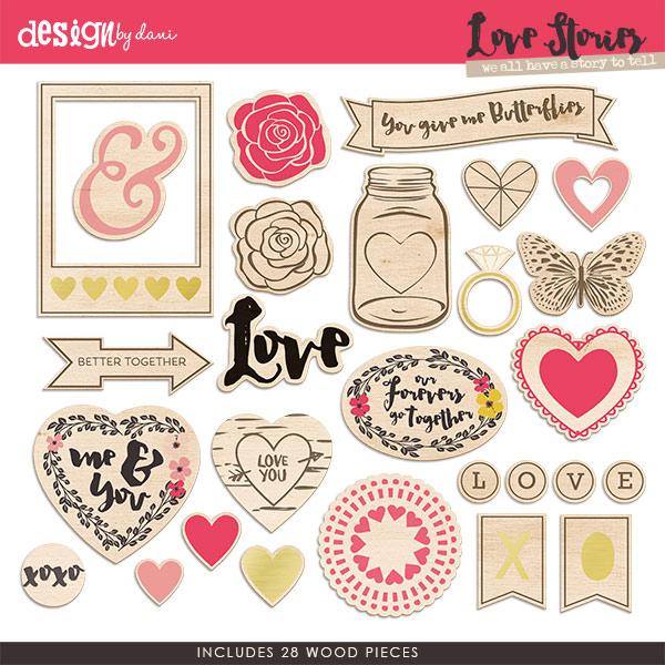 Love Stories Wood Pieces