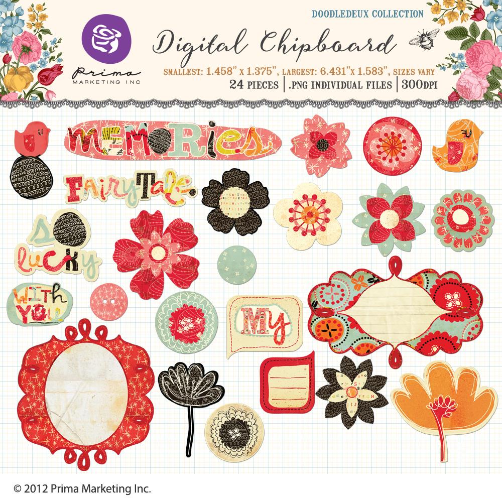 Doodledeux Digital Chipboard