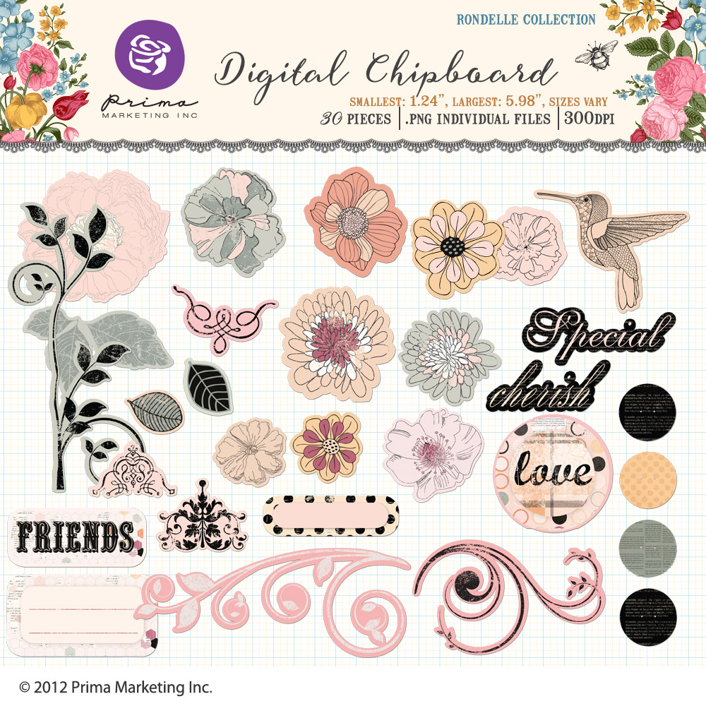 Rondelle Digital Chipboard