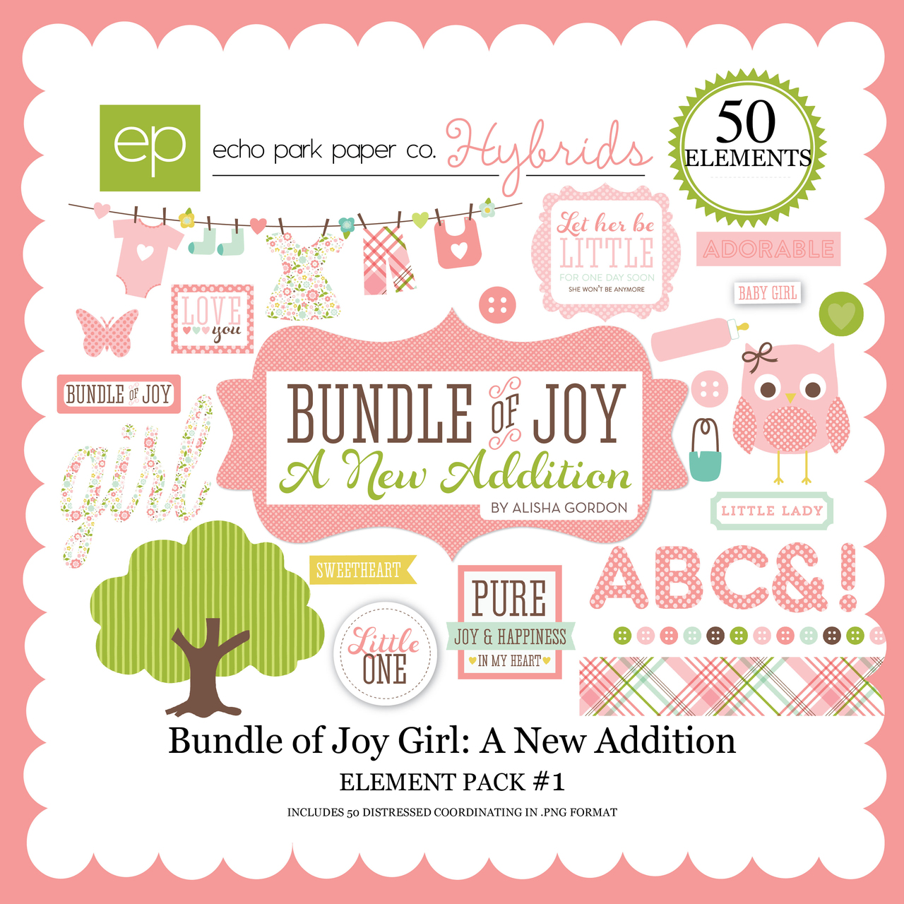 Bundle of Joy Girl: A New Addition Element Pack #1