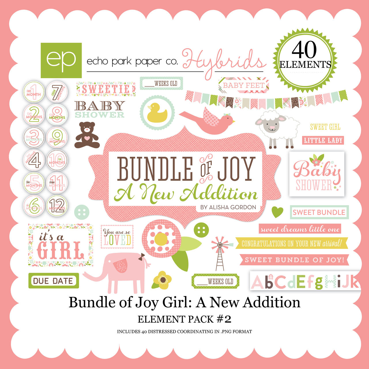 Bundle of Joy Girl: A New Addition Element Pack #2
