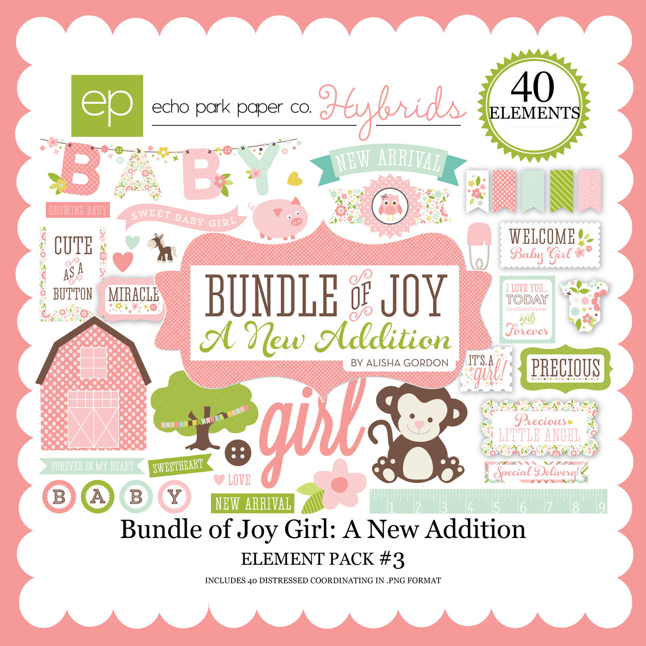 Bundle of Joy Girl: A New Addition Element Pack #3