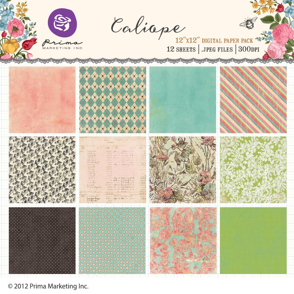 Caliope digital paper pack