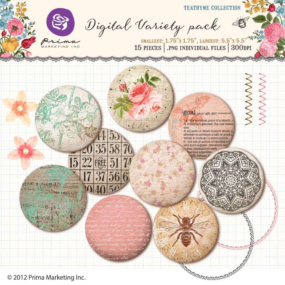 Tea Thyme digital variety pack