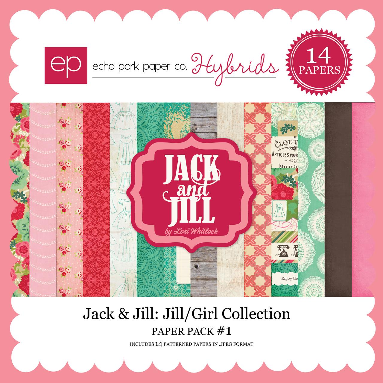 Jack & Jill: Jill/Girl Paper Pack #1