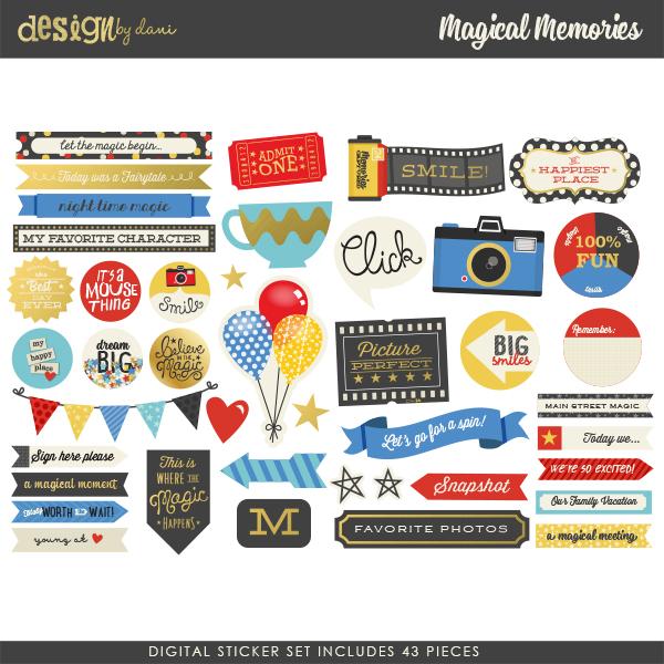 Magical Memories Digital Stickers