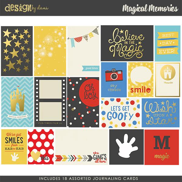 Magical Memories Journaling Cards