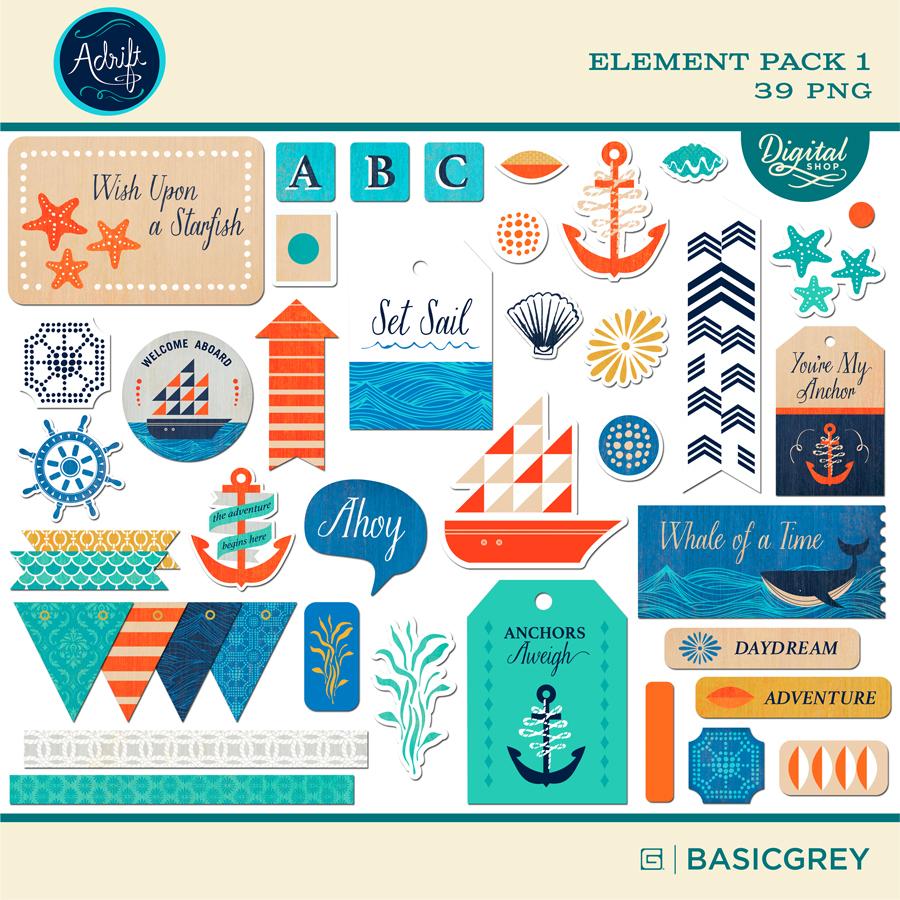 Adrift Element Pack 1